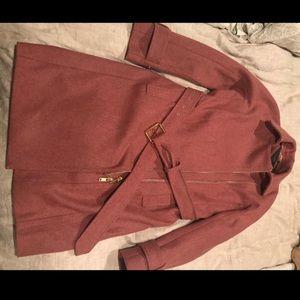J Crew Melton Wool Jacket 4 in Berry Pink